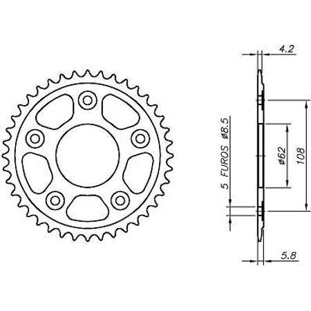 Coroa--Aprilia-Rs125-Replica-Sport-Pro-415-1992-A-1996-CA10.545-VAZ-Connect-Parts-2