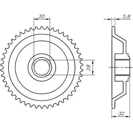 Coroa--Aprilia-Rs50-Extrema-Am6-420-1995-A-1998-CA05.144-VAZ-Connect-Parts-2