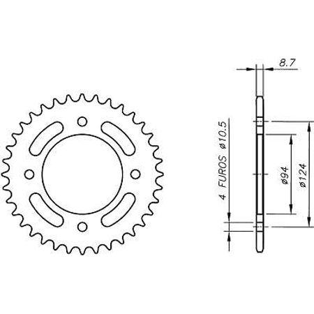 Coroa-Temperada-HONDA-CB500F1-Todos-Anos-HA10.235T-VAZ-Connect-Parts-2