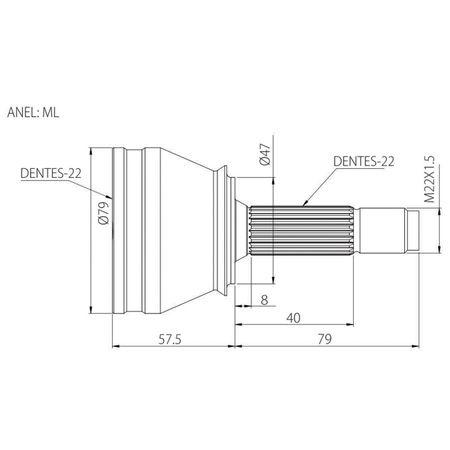 Junta-Homocinetica-Vetor-Fiat-Uno-Palio-Siena-1.4-12-Amp-connectparts---5-