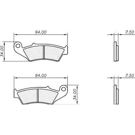 Pastilha-Carbon--Honda-Crf230LM-2004-a-2014-PM0011C-VAZ-Connect-Parts-2