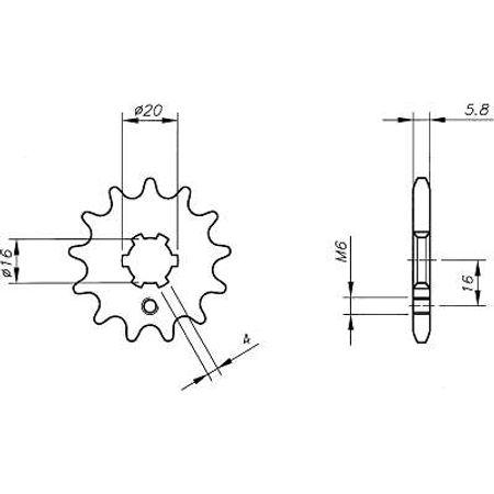 Pinhao-Yamaha-Fs80Se-1991-a-2003-YB10.414-VAZ-Connect-Parts-2