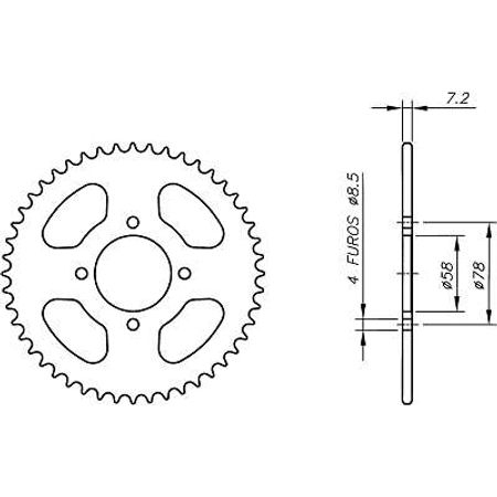 Coroa-Temperada-Kasinski-Gf125-1999-a-2003-DA03.543T-VAZ-Connect-Parts-2