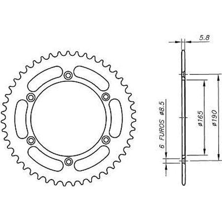 Coroa-Temperada-Ktm-Mx250-1989-a-1989-DA04.448T-VAZ-Connect-Parts-2