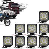 Kit-8x-Farol-de-Milha-Quadrado-27W-Universal-9-LEDs-6000K-Branco-Carro-Caminhao-Jeep-connectparts--1-