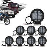 Kit-8x-Farol-de-Milha-LED-Redondo-Grade-Protecao-27W-3x9W-Carro-Caminhao-Jeep-Off-Road-Universal-connectparts--1-