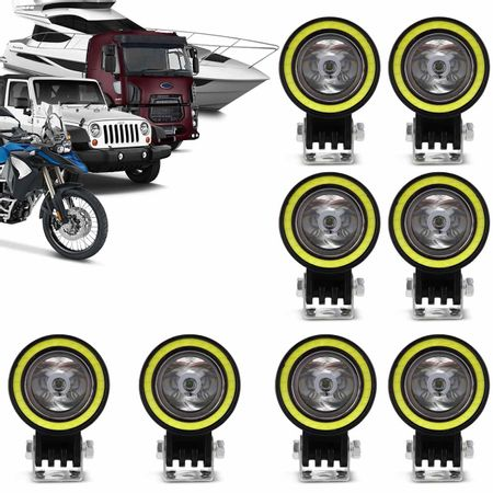 Kit-8x-Farol-de-Milha-Circular-LED-6000K-10W-com-Angel-Eyes-Universal-Carro-Moto-Caminhao-Jeep-connectparts---1-