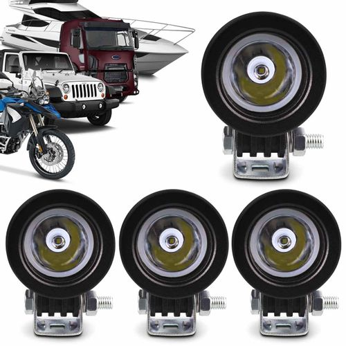 Kit-4x-Farol-de-Milha-LED-Carro-Moto-Caminhao-Jeep-Off-Road-10W-Universal-Redondo-Preto-connectparts---1-