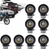 Kit-8x-Farol-de-Milha-LED-Carro-Moto-Caminhao-Jeep-Off-Road-10W-Universal-Redondo-Preto-connectparts---1-