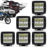 Kit-6x-Farol-de-Milha-LED-Quadrado-24W-Carro-Moto-Caminhao-Jeep-Off-Road-6x4W-Universal-Preto-connectparts---1-