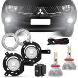 Kit-Farol-Milha-L200-Triton-05-a-10-Auxiliar-Neblina---Par-Super-LED-3D-Headlight-H11-6000K-9000LM-connect-parts--1-