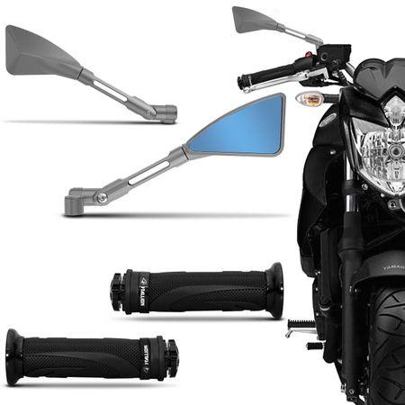 Retrovisor-Moto-Esportivo-Triangular-Tipo-Rizoma-Aluminio-Inteiro-Prata---Manopla-com-Friso-Preto-connectparts---1-