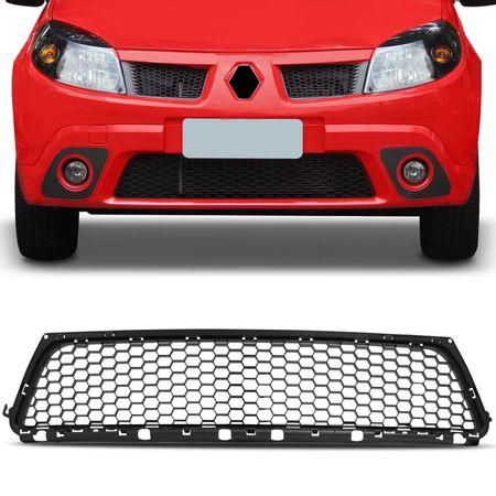 Grade-Dianteira-Para-choque-Renault-Sandero-08-09-10-11-Preta-Colmeia-connectparts--1-