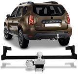 Engate-Reboque-Rabicho-Renault-Duster-Dynamique-Expression-2016-e-2017-Preto-e-Cromado-Tracao-710KG-connectparts