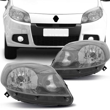 Par-Farol-Sandero-Renault-2012-2013-2014-Mascara-Cinza-Foco-Simples-connectparts---1-