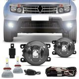 Kit-Farol-de-Milha-Duster-2011-2012-2013-2014-2015-2016---Kit-Super-LED-6000K-Efeito-Xenon-connectparts---1-