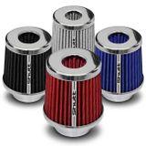 Filtro-de-Ar-Esportivo-Tunning-DuploFluxo-52mm-Conico-Lavavel-Shutt-Base-Cromada-Maior-Potencia-connectparts---1-