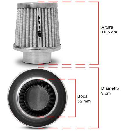 Filtro-de-Ar-Esportivo-Tunning-DuploFluxo-52mm-Conico-Lavavel-Shutt-Base-Cromada-Maior-Potencia-connectparts---3-