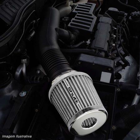 Filtro-de-Ar-Esportivo-Tunning-DuploFluxo-52mm-Conico-Lavavel-Shutt-Base-Cromada-Maior-Potencia-connectparts---5-
