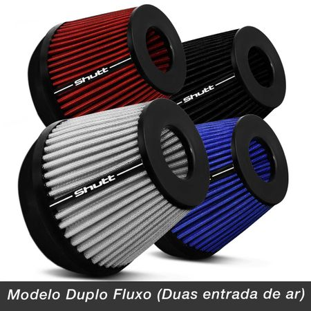 Filtro-de-Ar-Esportivo-Tunning-DuploFluxo-100mm-Conico-Lavavel-Shutt-Base-Borracha-Maior-Potencia-connectparts---2-