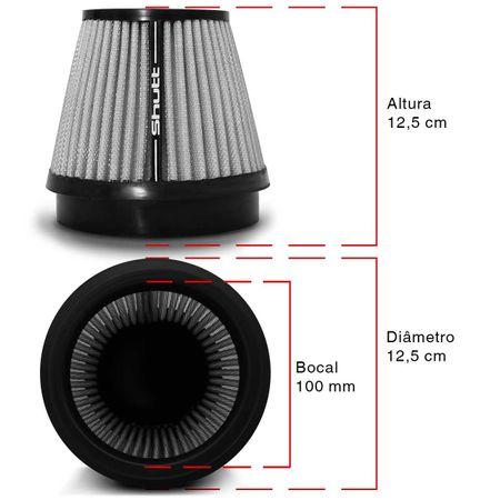 Filtro-de-Ar-Esportivo-Tunning-DuploFluxo-100mm-Conico-Lavavel-Shutt-Base-Borracha-Maior-Potencia-connectparts---3-