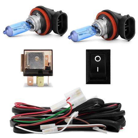Kit-Farol-de-Milha-Clio-03-a-12-Auxiliar-Neblina---Par-Lampada-Super-Brancas-H11-8500K-Efeito-Xenon-connect-parts--1-