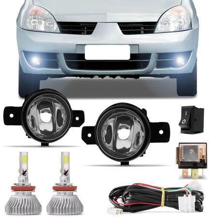Kit-Farol-de-Milha-Clio-03-a-12-Auxiliar-Neblina---Par-Super-LED-3D-Headlight-H11-6000K-9000LM-Connect-Parts--1-