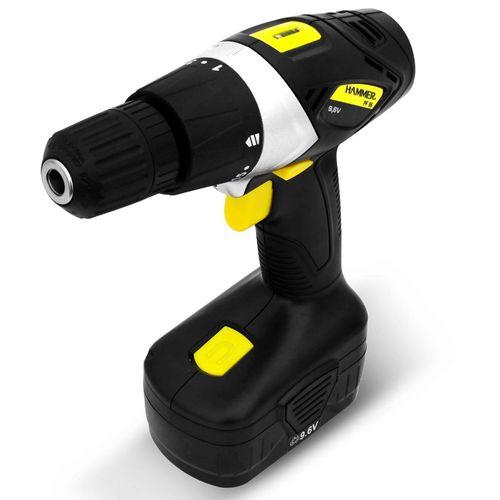 Furadeira-Parafusadeira-Hammer-PF-96-GYPF96-Mandril-810-Polegadas-10mm-Preta-e-Amarela-connectparts---1-