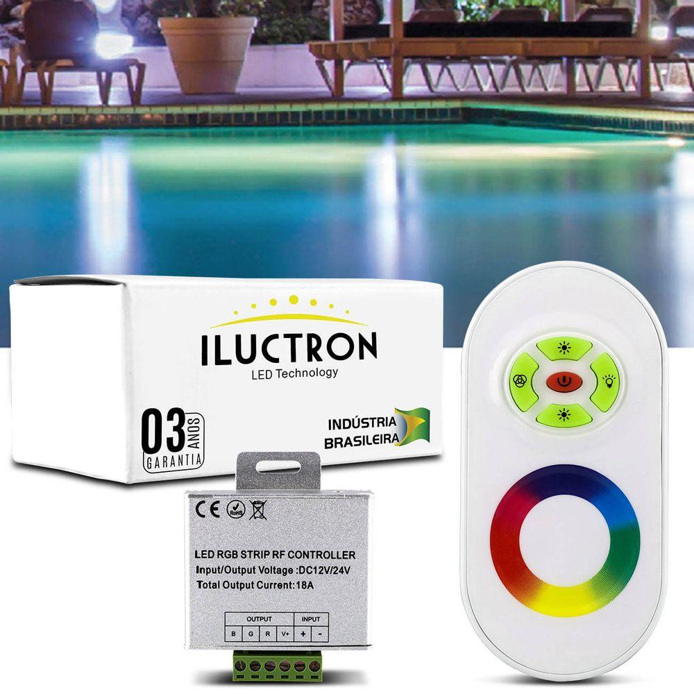 eae4c5ca9c Controle Remoto RGB Wireless Touching Iluctron para Sistemas de Iluminação  Efeitos de Luz e Módulo