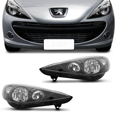 Farol-Peugeot-207-Mascara-Negra-2007-2008-2009-2010-2011-2012-2013-2014-2015-Foco-Duplo-connectparts---1-