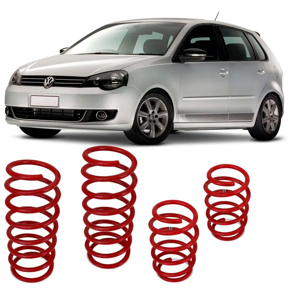 9bce63709ea9f Jogo de Molas Esportivas Volkswagen Polo 2003 a 2015 Suspensão em Aço  Vermelho