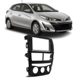 Moldura-do-Painel-2-Din-Toyota-Yaris-2018-2019-Preto-Fosco-DVD-Multimidia-Chines-Japones-connectparts---1-