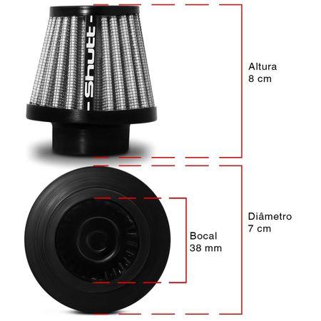 Filtro-de-Ar-Esportivo-Moto-Tunning-MonoFluxo-38mm-Conico-Lavavel-Shutt-Base-Borracha-Maior-Potencia-connectparts---3-