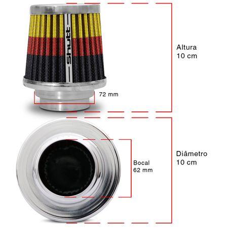 Filtro-de-Ar-Esportivo-Tunning-MonoFluxo-72mm-Conico-Lavavel-Especial-Shutt-Base-Cromada-Potencia-connectparts---3-
