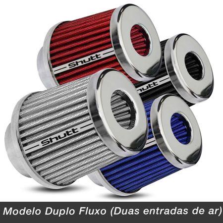Filtro-de-Ar-Esportivo-Tunning-DuploFluxo-52-62mm-Conico-Lavavel-Shutt-Base-Cromada-Maior-Potencia-connectparts---2-