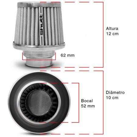 Filtro-de-Ar-Esportivo-Tunning-DuploFluxo-52-62mm-Conico-Lavavel-Shutt-Base-Cromada-Maior-Potencia-connectparts---3-