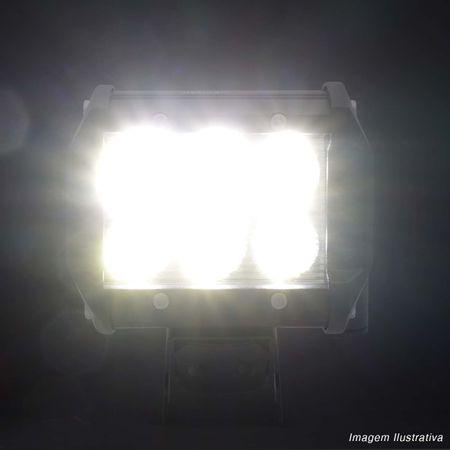 Kit-2x-Farol-de-Milha-Quadrado-18W-Universal-6x3W-LEDs-6000K-Carro-Moto-Caminhao-Jeep-connectparts---5-