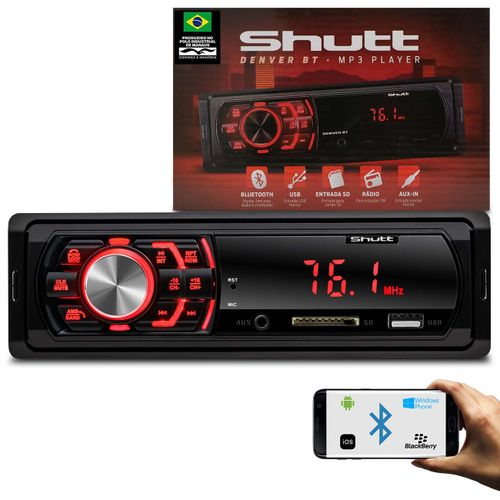 MP3-Player-Automotivo-Shutt-Denver-BT-1-Din-Bluetooth-Auto-Radio-USB-AUX-SD-Card-FM-Display-LED-connectparts---1-