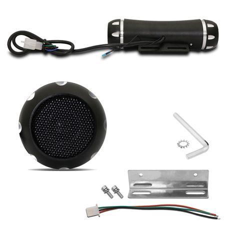 Caixa-de-Som-para-Moto-Universal-com-Alarme-Bluetooth-MicroSD-USB-Auxiliar-P2-MP3-Radio-FM-Smartphone-Preto-com-Controle-Remoto-connectparts--3-