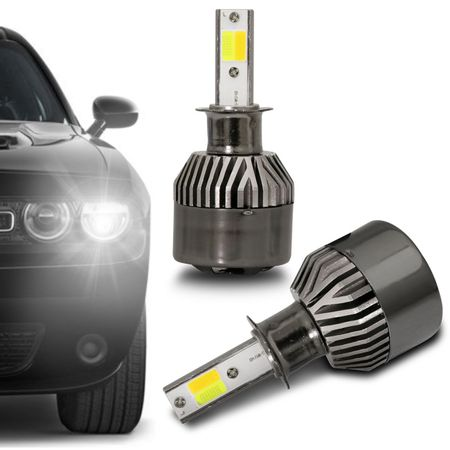 Par-Lampadas-Automotivas-Super-LED-Triple-Color-H1-3000K-4300K-6000K-Luz-Amarela-e-Luz-Branca-22W-4800-Lumens-12V-e-24V-Efeito-Xenon-Carro-Moto-e-Caminhao-connectparts--2-
