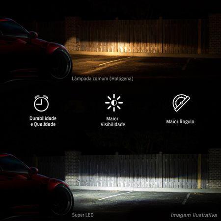 Par-Lampadas-Automotivas-Super-LED-Triple-Color-H1-3000K-4300K-6000K-Luz-Amarela-e-Luz-Branca-22W-4800-Lumens-12V-e-24V-Efeito-Xenon-Carro-Moto-e-Caminhao-connectparts--4-