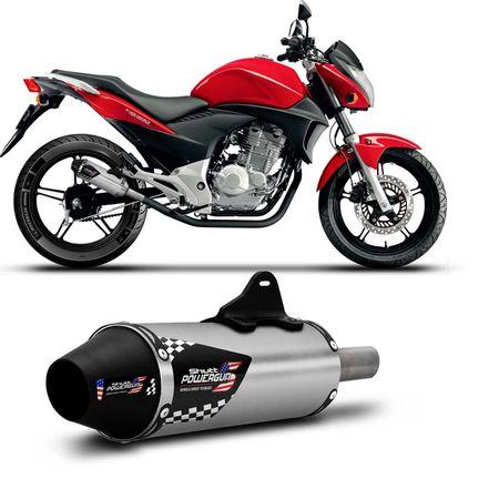 Escapamento-Ponteira-Shutt-Powergun-Honda-CB-300-09-10-11-12-13-14-Aco-Inox-com-Ponta-Preta-Moto-connectparts--1-