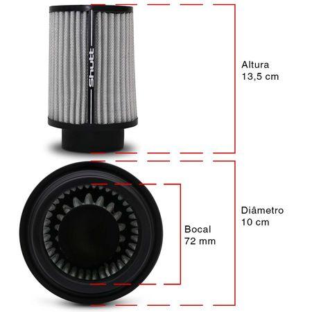 Filtro-de-Ar-Esportivo-Tunning-DuploFluxo-Alto-72mm-Conico-Lavavel-Shutt-Base-Maior-Potencia-connectparts---3-