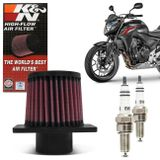 Kit-Filtro-KN---Vela-Iridium-NGK-Honda-CB500F-2014-2015-2016-2017-2018-connectparts---1-