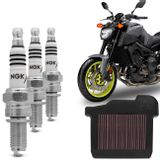 Kit-Filtro-KN---Vela-Iridium-NGK-Yamaha-MT09-2014-a-2018-connectparts---1-