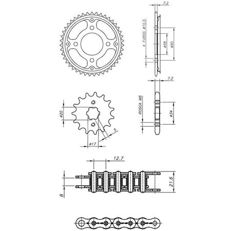 Kit-Completo-Ccp-Xtreme-S-Honda-Cg150-Titan-Start-Ks-Es-Cargo-Fan-Titan-Mix-connectparts---2-