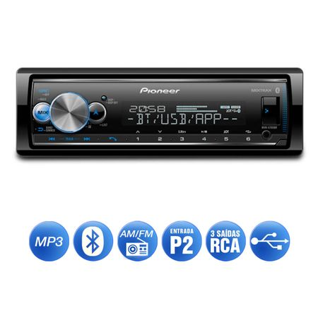 MP3-Player-Receiver-Pioneer-MVH-X700BR-1-Din-Bluetooth-Interface-Android-IOS-Flashing-Lights-Mixtrax-connectparts---2-