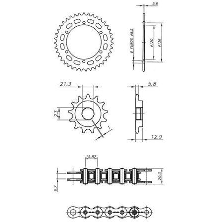 Kit-Completo-Ccp-Xtreme-Yamaha-Xtz250-Lander--521--2009---Y04556X-connectparts-