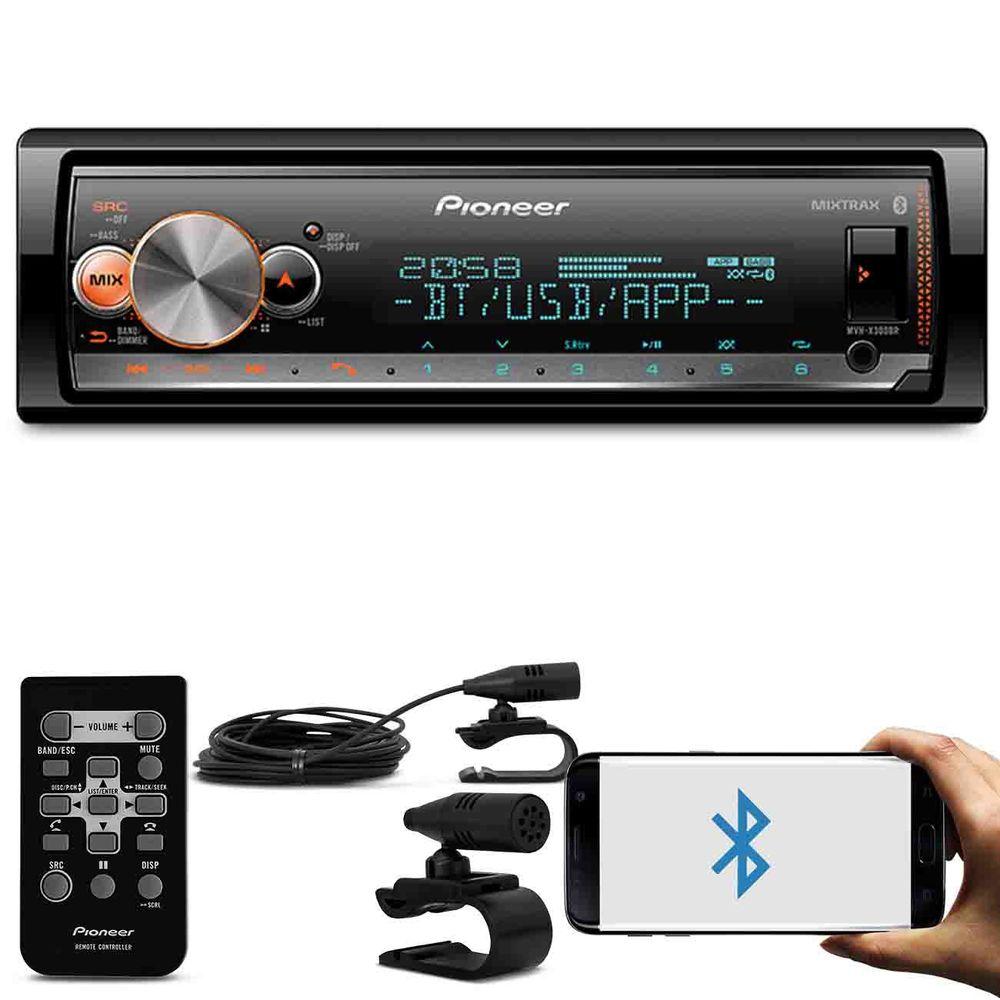 56334673b MP3 Player Pioneer MVH-X300BR com Smart Sync - Connect Parts