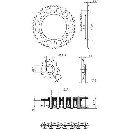 Kit-Completo-Ccp-Xtreme-Yamaha-Yfs250-Fazer-2005-2017-Y04512X-connectparts---2-